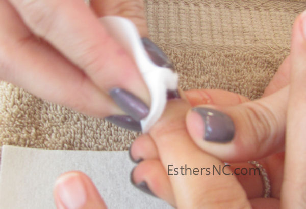 how to apply shellac nail polish - wipe alcohol