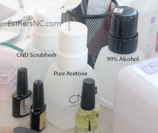 shellac nail products used