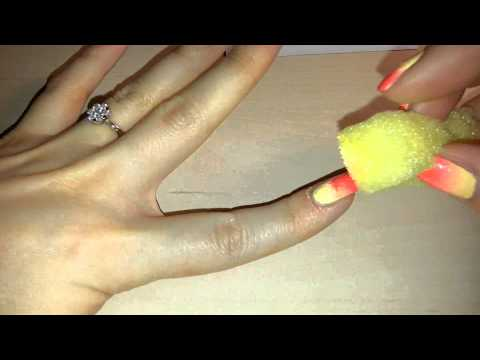 "Gradient ""Sunset"" nails tutorial / Маникюр с переходом ""Закат солнца"""
