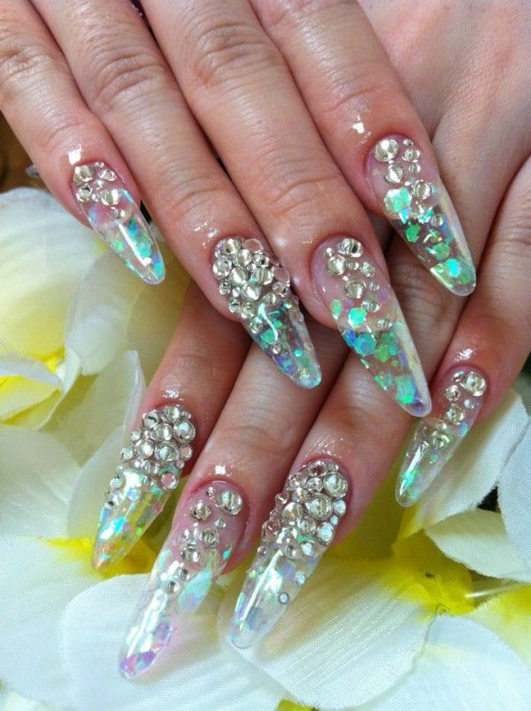 transparent nail design прозрачный маникюр manicure with transparent tips
